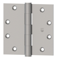 Hager 008622  1279,  4-1/2 X 4 Full Mortise Standard Weight 5 Knuckle Plain Bearing Hinge In Us26D Box Of 3 (Lifetime Warranty)