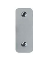 Detex 01PNx711, Function 01Pn Trim, Exit Only, Cover Plate, Narrow, 711 Black Anodized Aluminum