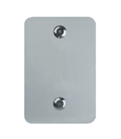 Detex 01Px711, Function 01P Trim, Exit Only, Cover Plate, 711 Black Anodized Aluminum