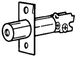 "S. Parker Hardware 03500,  Deadbolt With Steel Reinforcing Rod And Face Plate In Polished Brass 2 3/8"" Backset"