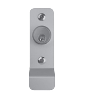 Detex 03PNx628, Function 03Pn Pull Trim, Key Retracts Latch (Night Latch), Narrow, 628 Clear Anodized Aluminum