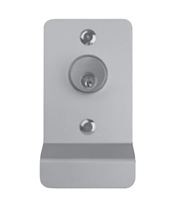 Detex 03Px628, Function 03P Pull Trim, Key Retracts Latch (Night Latch), 628 Clear Anodized Aluminum