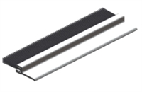 "Hager 053194, 802S 36"" X 1/4"" X 1/2"" Door Bottom Sweep Or Jamb Weatherstrip Or Astragal, Mil Finish With Brush Insert"
