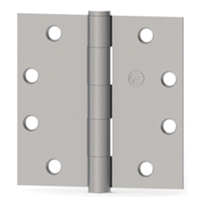 Hager 075047  Ec1100,  4-1/2 X 4-1/2 Full Mortise Standard Weight 5 Knuckle Plain Bearing Hinge In Satin Chrome Box Of 3