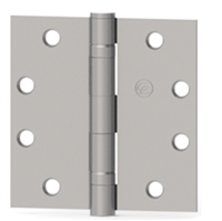Hager 075048  Ecbb1100,  4-1/2 X 4-1/2 Full Mortise Steel Standard Weight 5 Knuckle Ball Bearing Hinge In Us26D Satin Chrome Box Of 3