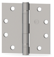 Hager 075049  Ecbb1100Nrp,  4-1/2 X 4-1/2 Full Mortise Steel Standard Weight 5 Knuckle Ball Bearing Hinge In Us26D Satin Chrome Box Of 3