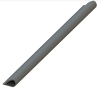 Hager 089698, 736S 17' Press-On Smoke Seal, Charcoal Finished Silicone