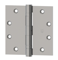 Hager 10108 - Bb1279 -  4-1/2 In x 4-1/2 In Full Mortise Ball Bearing Hinge, Steel Standard Weight, Box of 3, Us26d