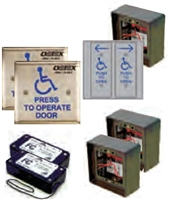 "Detex 104786, 4-1/2"" Square Button Wireless Vestibule Kit - Includes:"