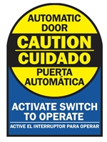 Detex 104787-1, Door Safety Decal, English/Spanish