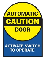 Detex 104787, Door Safety Decal, English