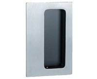 "Trimco 1060.620 - Flush Pull 2-3/4 X 4-1/4"", Satin Nickel Plated, Blackened, Satin Relieved, Clear Coated"