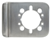 "Trimco 1082-4.629 - Cylindrical Lock-Guard 4"", Polished Stainless Steel"
