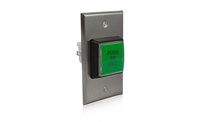"ADH Select 10Acpbss1 2"" X 4"" Access Control Green Illuminated Push To Exit Button"