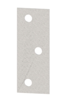 Hager 1203 - 417 - 5 In Back Plate For Wood Doors Half Surface Or Full Surface Hinges, Usp, Pack of 10