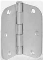 "S. Parker Hardware 1240Rdch3H5E, 3 1/2 "" X 3 1/2"" Dull Chrome With 5/8"" Radius Non-Template Butt Hinge (Box Of 2)"