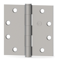 Hager 125210 - Ec1101 -  4-1/2 In x 4-1/2 In Full Mortise Plain Bearing Hinge, Brass or Stainless Steel, Standard Weight, Us26