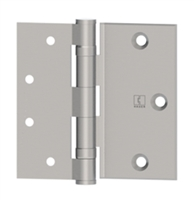 Hager 12828 - Bb2112 -  4-1/2 In Half Surface Ball Bearing Hinge, Brass or Stainless, Standard Weight, Box of 3, Us26d