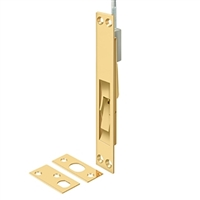 "Deltana 12Efbcr003 - 12"" Extension Flush Bolt, Solid Brass - Cr003 Pvd Polished Brass Finish"