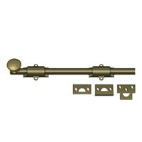 "Deltana 12Sb5 - 12"" Surface Bolt, Hd - Us5 Antique Brass Finish"