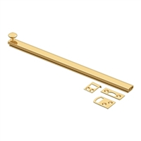 "Deltana 12Sbcs003 - 12"" Surface Bolt, Concealed Screw, Hd - Cr003 Pvd Polished Brass Finish"