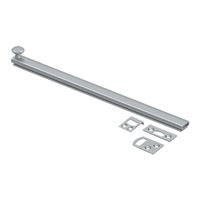 "Deltana 12Sbcs26D - 12"" Surface Bolt, Concealed Screw, Hd - Us26D Brushed Chrome Finish"