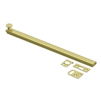 "Deltana 12Sbcs3 - 12"" Surface Bolt, Concealed Screw, Hd - Us3 Polished Brass Finish"