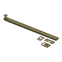 "Deltana 12Sbcs5 - 12"" Surface Bolt, Concealed Screw, Hd - Us5 Antique Brass Finish"