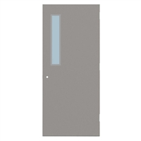 "1413-3068-SVL535 - 3'-0"" x 6'-8"" Steelcraft / Amweld / DKS Hinge Commercial Hollow Metal Steel Door with 5"" x 35"" Low Profile Beveled Vision Lite Kit, Security Lever Prep, 18 Gauge, Polystyrene Core"