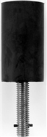 "Don Jo 1463-Black, Detention Stop, 6"" Height, Black Finish"