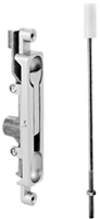 Don Jo 1551-Sl, Radius Face Flush Bolt, Sl Finish