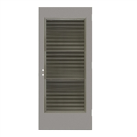 "1817-3068-VLV2464 - 3'-0"" x 6'-8"" Steelcraft / Amweld / DKS Hinge Commercial Hollow Metal Steel Door with 24"" x 64"" Inverted Y Blade Louver Kit, 161 Cylindrical Lock and Deadbolt Prep 5-1/2"" CTC, 18 Gauge, Polystyrene Core"