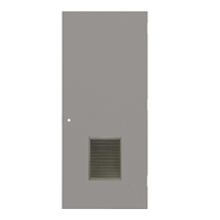 "1840-3070-VLV1218 - 3'-0"" x 7'-0"" Steelcraft / Amweld / DKS Hinge Commercial Hollow Metal Steel Door with 12"" x 18"" Inverted Y Blade Louver Kit, 161 Cylindrical Lock Prep, 18 Gauge, Polystyrene Core"