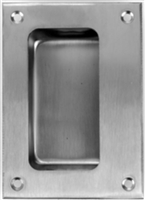 "Don Jo 1850-630, 3-1/2"" X 4-3/4"", Features 4 Each #8 X 3/4"" Sms, Flush Cup Pulls, 630 Finish"