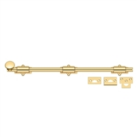 "Deltana 18Sb003 - 18"" Surface Bolt, Hd - Pvd Polished Brass Finish"