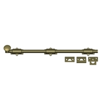 "Deltana 18Sb5 - 18"" Surface Bolt, Hd - Antique Brass Finish"