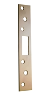 "Don Jo 2-SDS-8-BP, 8"" x 1-3/8"" Security Strike For Key-In-Knob, Brass Plated"