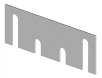 "Hager 23348, 337B Template Hinge Shim 4.5"", Usp Primed Finish"