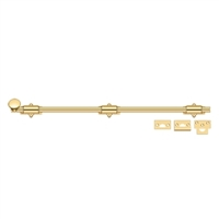 "Deltana 24Sb003 - 24"" Surface Bolt, Hd - Pvd Polished Brass Finish"