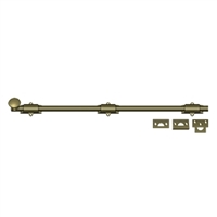 "Deltana 24Sb5 - 24"" Surface Bolt, Hd - Antique Brass Finish"