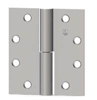 Hager 2858 - 920 -  4-1/2 In x 4-1/2 In Full Mortise Hinge, Left Hand, Steel Standard Weight Plain Bearing, Box of 3, Us10b