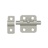 "Deltana 2Bbu15 - 2"" Barrel Bolt - Brushed Nickel Finish"