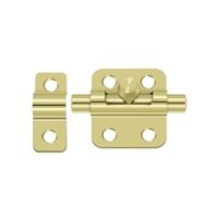 "Deltana 2Bbu3 - 2"" Barrel Bolt - Polished Brass Finish"