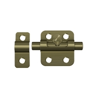 "Deltana 2Bbu5 - 2"" Barrel Bolt - Antique Brass Finish"