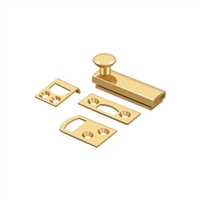 "Deltana 2Sbcs003 - 2"" Surface Bolt, Concealed Screw, Hd -	Pvd Polished Brass Finish"
