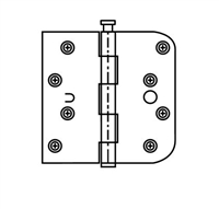 "Ultra Hardware 34997, 4"" X 4"" Door Hinge, 2.5Mm Gauge, Rp - Specialty Square Corner - Plain Bearing, Orb - Copper Tint/Us10Bc - Pack Of 100"