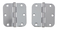 "Ultra Hardware 35044, 3-1/2"" X 3-1/2"" Door Hinge, 2.2Mm Gauge, Rp Pin, 5/8"" Radius Corner, Plain Bearing, Chrome/Us26, Pack Of 2"