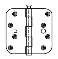 "Ultra Hardware 35960, 4"" X 4"" Door Hinge, 2.5Mm Gauge, Rp - Specialty Square Corner - Plain Bearing, Pure White/Usppw - Pack Of 100"
