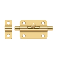 "Deltana 3Bbcr003 - 3"" Barrel Bolt - Pvd Polished Brass Finish"