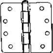 "S. Parker Hardware 40014N26D, 4"" X 4"" 1/4"" Radius Us26D W/ Fixed Pin Template Pattern Butt Hinges"